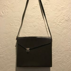 Vintage Dark Brown Leather Camera Bag